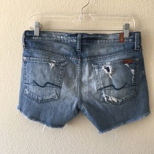 7 For All Mankind Shorts - 7 for all Mankind denim cut off shorts Sz 28-EBay
